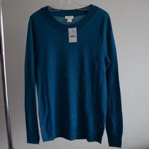 NWT J.Crew Sawyer sweater ribbed Merino wool